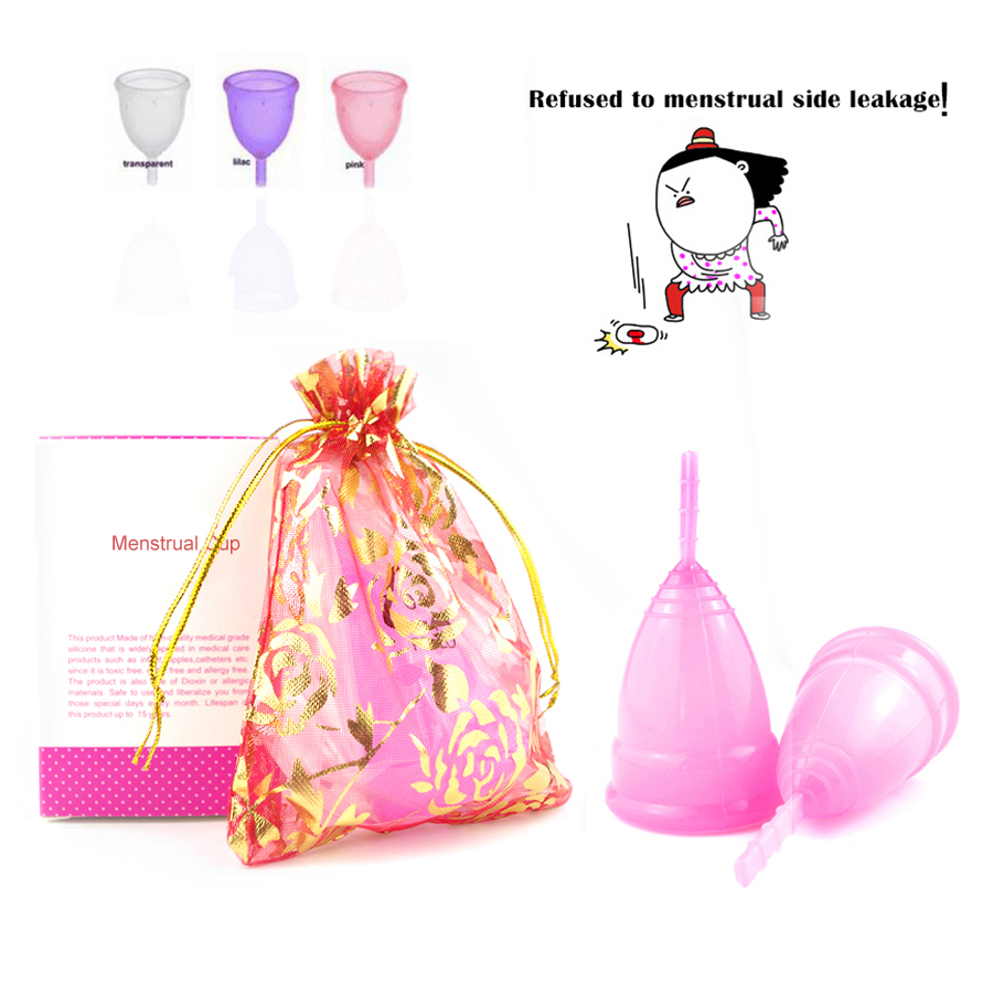 Buy 5pcs Reusable Menstrual cup Feminine hygiene vagina care lady period cup alternative tampons sanitary pads Fast shipping