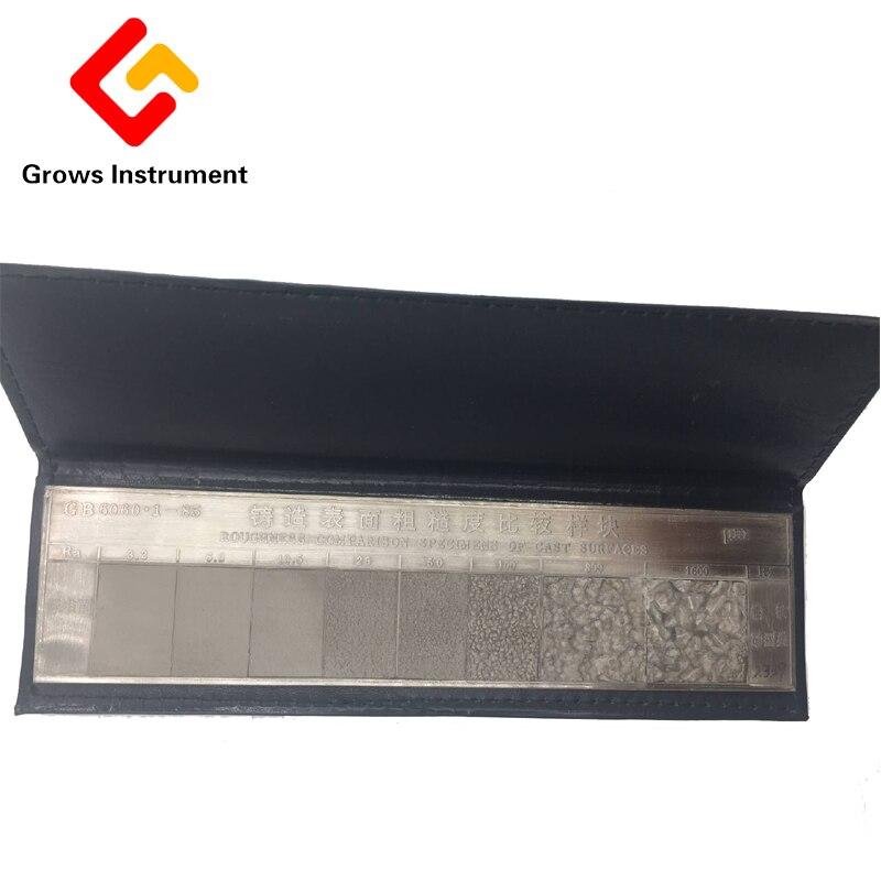 Comparaison de rugosité de Surface de moule de sable de fonte comparaison de rugosité d'échantillon contraste de rugosité de Surface de bloc d'échantillon