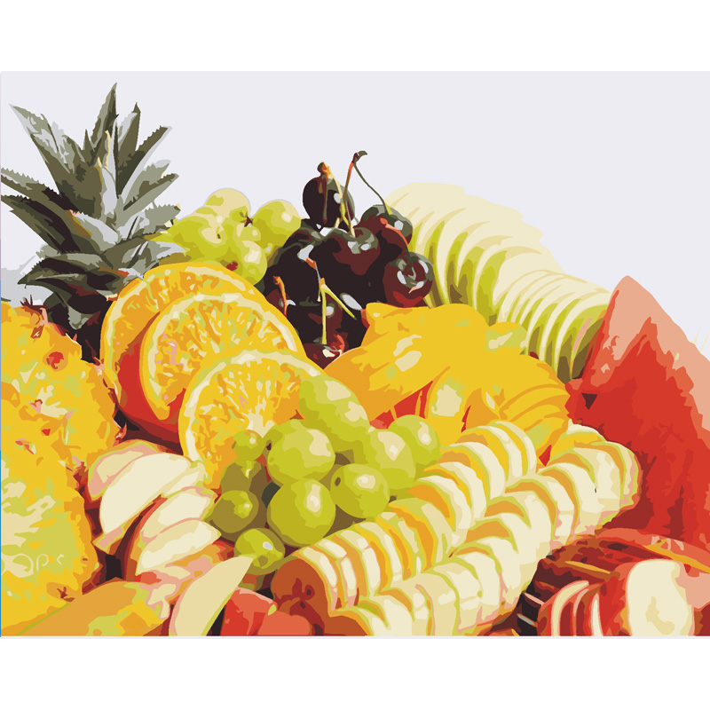 Qluo Fruit grape orange Picture Painting Wall Art Home Decoration ...