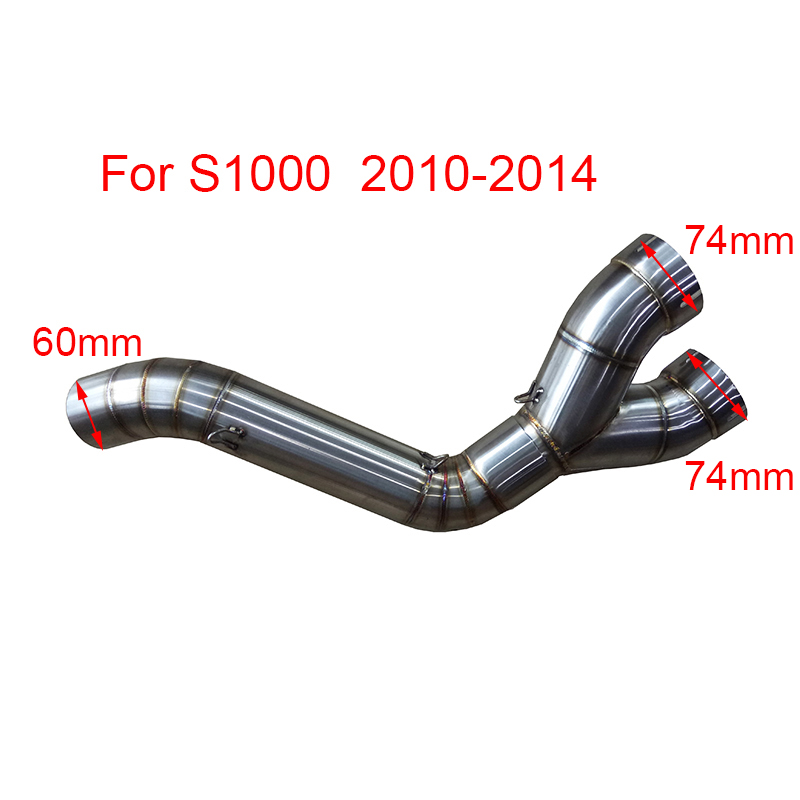 For BMW S1000RR 2010 2011 2012 2013 2014 2015 Motorcycle Scooter Exhaust Middle Pipe Muffler Full System Modified Stainess Steel пороги rival bmw style hyundai ix35 2010 2013 2015 kia sportage 2010 2014 2015 круг 173 см крепеж 2 шт