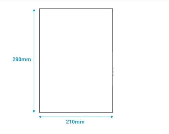 Купить с кэшбэком 100 Sheets/lot A4 size Blank Kraft adhesive sticker/Self adhesive A4Kraft Label Paper for Laser Inkjet Printer Packaging Label