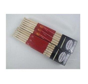 12 Pair Music Band Maple Wood Drum Sticks Drumsticks 7A 1 pair 40cm wooden hot rods rute jazz drum sticks portable lightweight