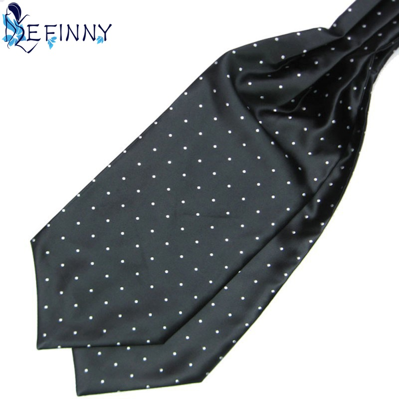 2018 Fashion Hot Sale Newest Men Dots Long All-match Anti-wrinkle Flexible Lighter Microfiber Silk Scarves For Suit Banquet Cost Evident Effect