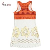 MUABABY Girl Moana Dress Children Summer Beach Costume Kids Adventure Outfit Girl Princess Cosplay Dress Up
