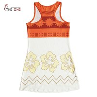 MUABABY Girl Moana Dress Children Summer Beach Costume Kids Adventure Outfit Girl Princess Cosplay Dress Up