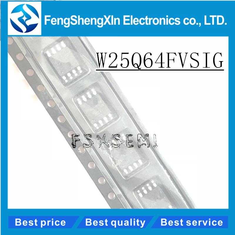 10pcs/lot  New W25Q64  W25Q64FVSSIG  W25Q64FVSIG  25Q64FVSSIG 25Q64FVSIG  SOP-8  8M FLASH  routing update  IC