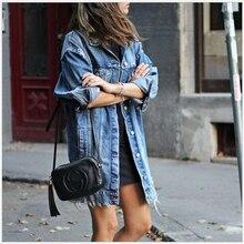 New Denim Jackets Women Hole Boyfriend Style Jean Jacket Den