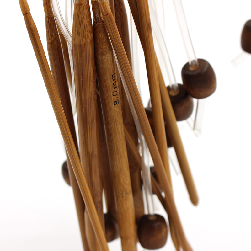 12Pcs Afghan Tunisian Carbonized Bamboo Needle 1.2M 3-10mm Crochet Hooks