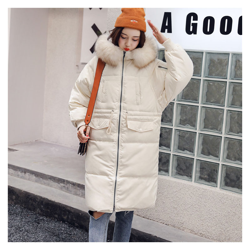 Graceful and luxurious fluffy white duck down warm winter women 39 s down jacket Scorpion hair large fur collar Women 39 s Winter Coat in Parkas from Women 39 s Clothing