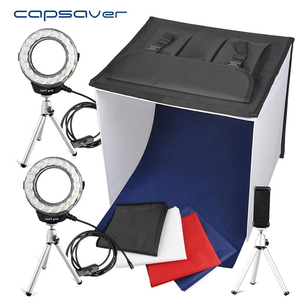 Capsaver K40II Pliable Boîte à Lumière Mini photographie Photo Studio Lightbox Photo Boîte 3200 k-9000 k CRI85 40 cm tir Tente Boîte à lumière
