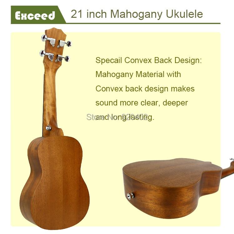 21 zoll Mahagoni Ukulele Akustische Gitarre Sopran Hawaii Ukelele - Musikinstrumente - Foto 6