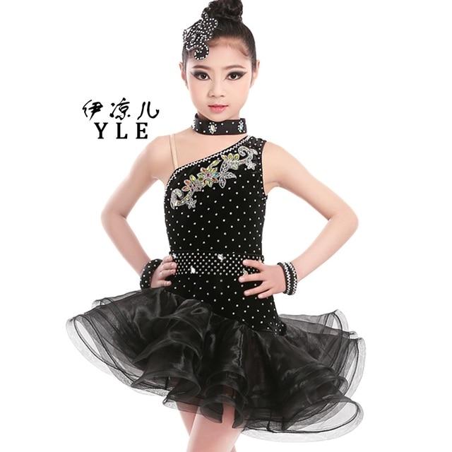15994d7b5dd Vestido de baile latino para las niñas de los niños rendimiento ropa baile  latino adulto de