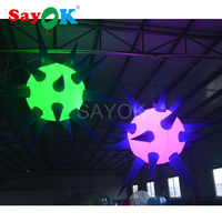 Hot sale LED Lighting Inflatable Star Balloon inflatable spiky ball for Party and Stage Decoration(Dia 1.5m, 2m)