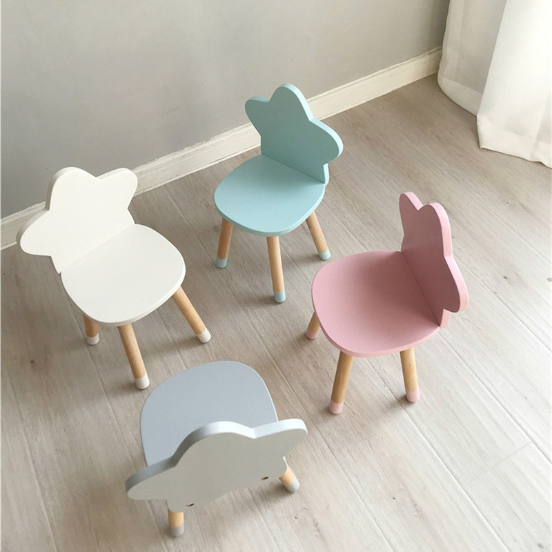 Nordic furniture children's room solid wooden stars children's chair writing study stool baby dining chair mx6011110