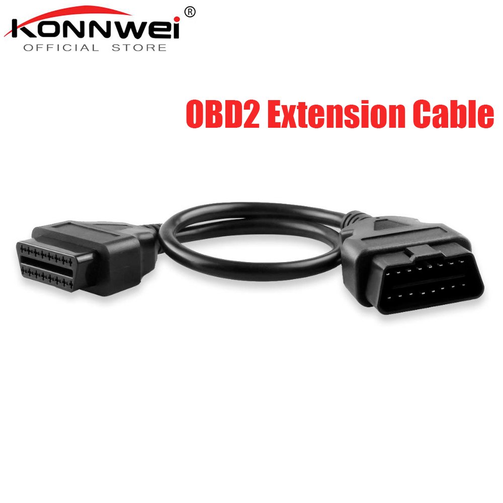 Hot Sale Original Professional 30CM 16 Pin Male To 16 Pin Female OBD2 Connector Car Diagnostic Extension Cables And Connectors