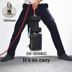 1 шт. сильный неодимовый магнит супер мощный поиск крюк-магнит магнитный материал Рыбалка salvage Постоянный NdFeB держатель