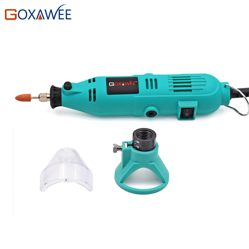 Image 4 - GOXAWEE Electric Mini Drill Power Tools Rotary Tools Accessories with Flex Shaft Hanger For Dremel Stype Drill Mini Grinder Tool-in Electric Drills from Tools