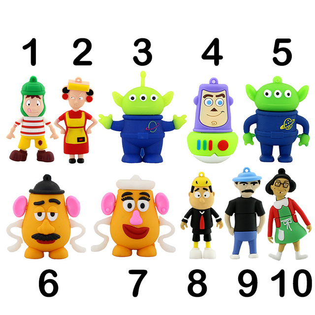 Cartoon Toy Story Buzz USB Flash Drives 4GB 8GB 16GB 32GB 64GB