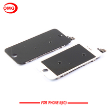 AAA Display For Iphone 5 LCD Touch Screen Digitizer Assembly For Apple iPhone 5G With Original Digitizer Glass White&Black