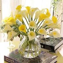 Калла венки лили букет невеста смешивания искусственный настоящее свадебный декор цветы