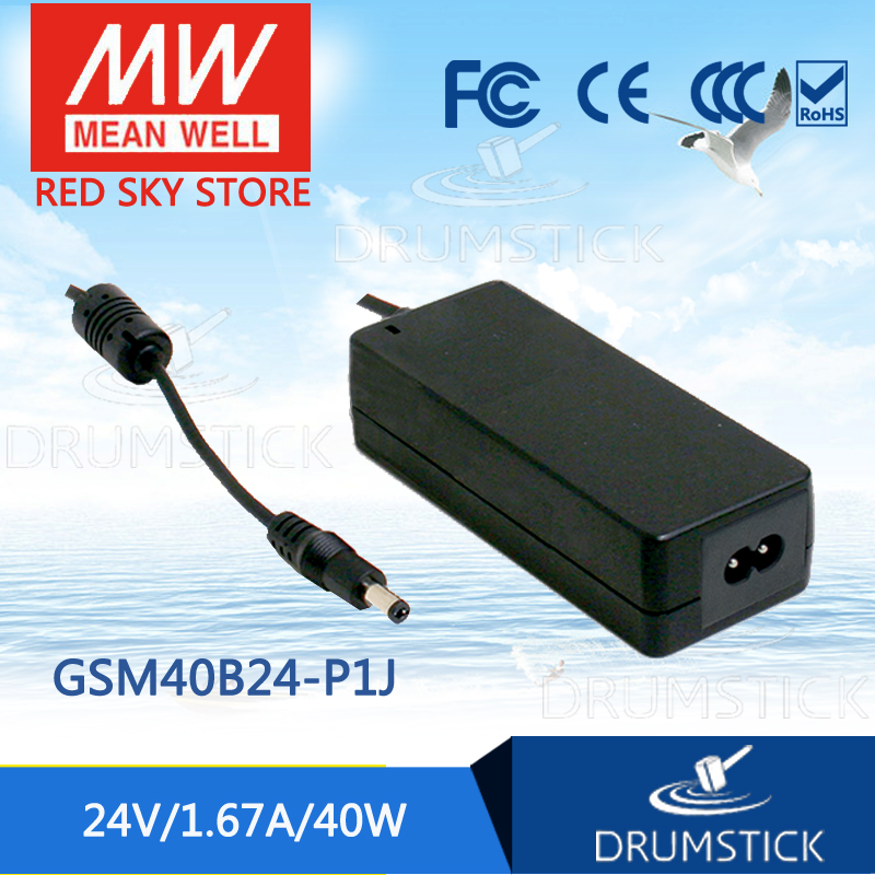 Hot sale MEAN WELL GSM40B24-P1J 24V 1.67A meanwell GSM40B 24V 40W AC-DC High Reliability Medical Adaptor [mean well] original gsm60b05 p1j 5v 6a meanwell gsm60b 5v 30w ac dc high reliability medical adaptor