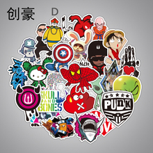 100Pcs Styling Funny Cool Sticker Bomb Waterproof Graffiti Doodle Sticker Skateboard Decal Toy Sticker