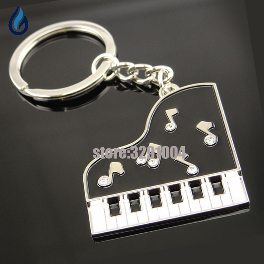 3d Creative Piano Car Key Chain Holder Bag Key Ring For Renault Captur Ford Kuga Skoda Octavia 2 A7 Suzuki Fiat Keychain Keyring