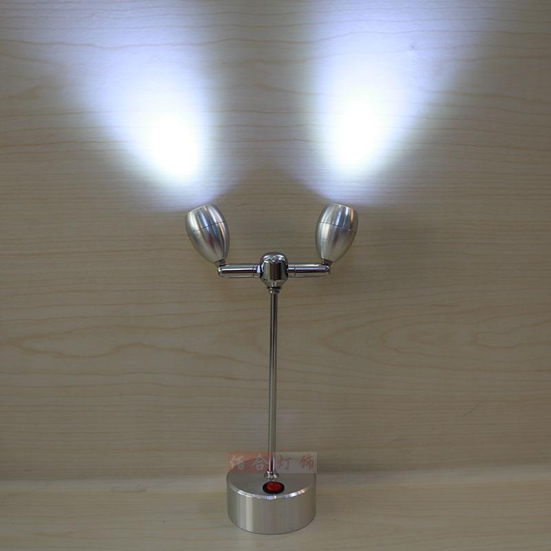 LED Battery Lamp Spotlight Display Leads Wedding Jewelry
