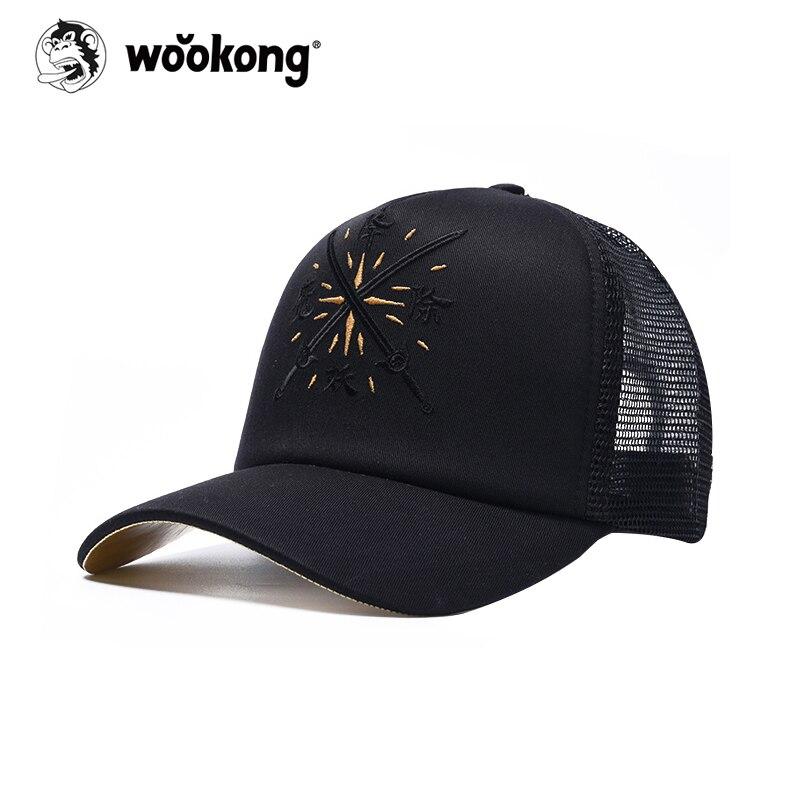 The Wookong Tide Brand Women Men Baseball Caps Black Male and Female Hip-hop Lovers Street Cap Hat Causal Summer Sun Hats