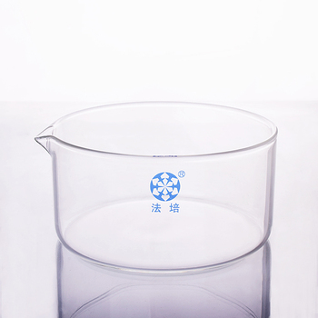 Crystallizing dish with spout,Outer diameter 230mm and Height 135mm,crystallizing basin with spout