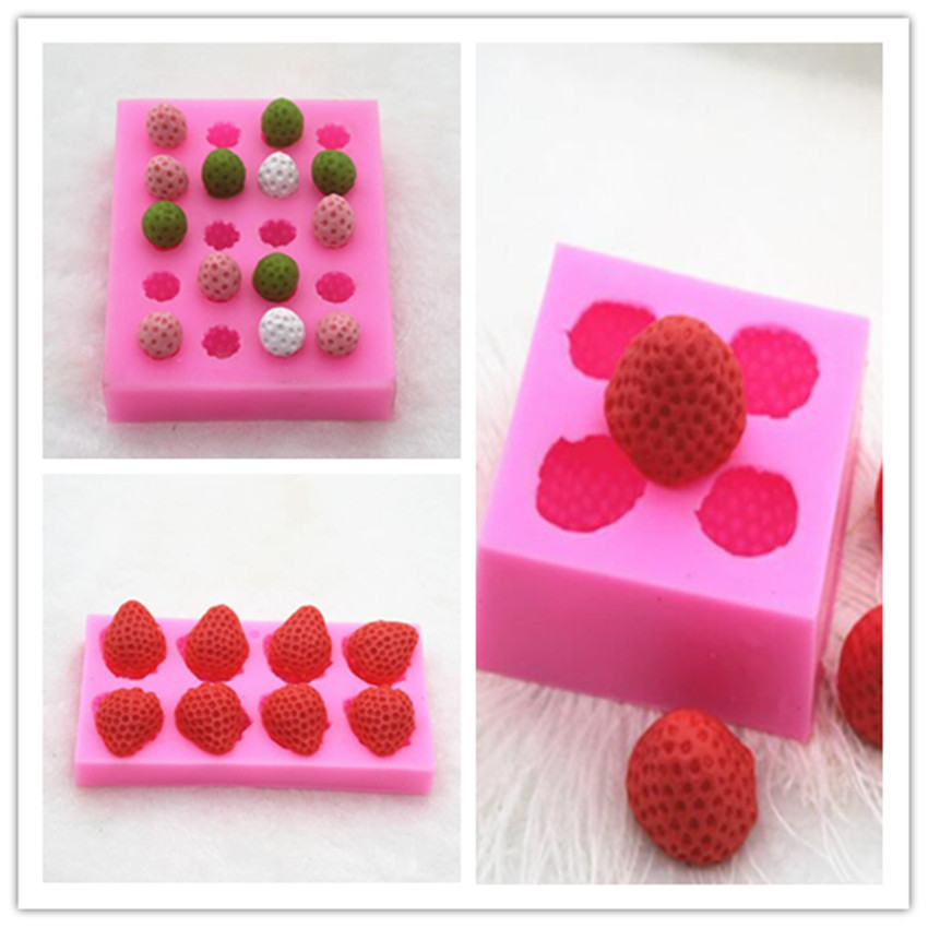 Gehorsam Kleine Erdbeere Silikonform Schokolade Fimo Ton Sussigkeiten