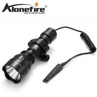 AloneFire CREE XML-T6 L2 U3 LED C8 Tactical Flashlight Torch hunting 20mm Mount Airsoft Rifle Scope Shotguns light 18650 battery