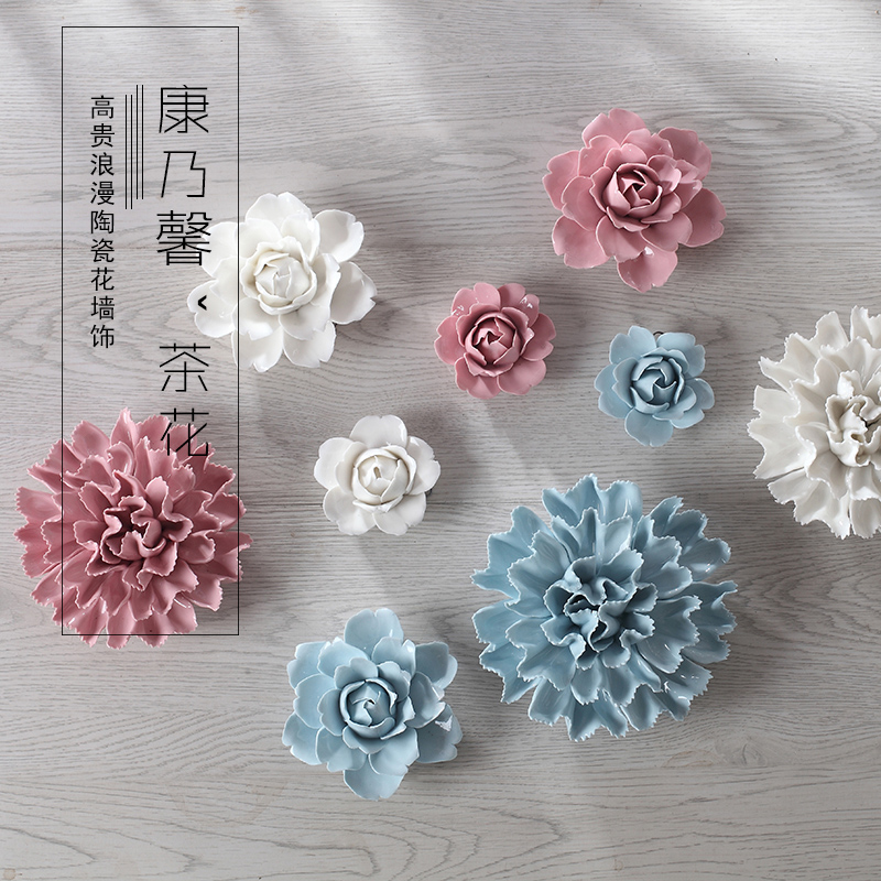 Camellia Carnation Decorative Wall Flower Dishes Porcelain