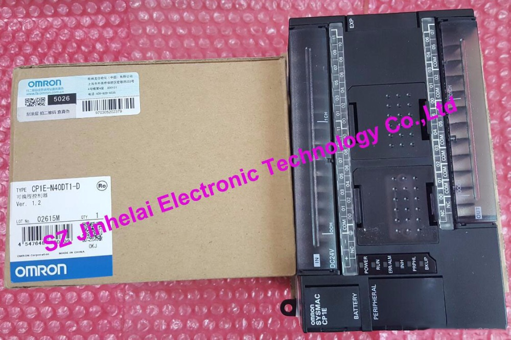 100% New and original  CP1E-N40DT1-D  OMRON PLC CONTROLLER new and original e3x da11 s omron optical fiber amplifier photoelectric switch 12 24vdc