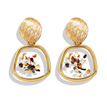 Geometric Shell Earrings For Women Earrings Jewelry Women Jewelry Metal Color: CS50151