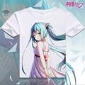 2017 mujeres camiseta impreso digital hot anime Hatsune Miku Hatsune Miku cosplay camiseta de manga corta T-shirt Camiseta de las mujeres camisa