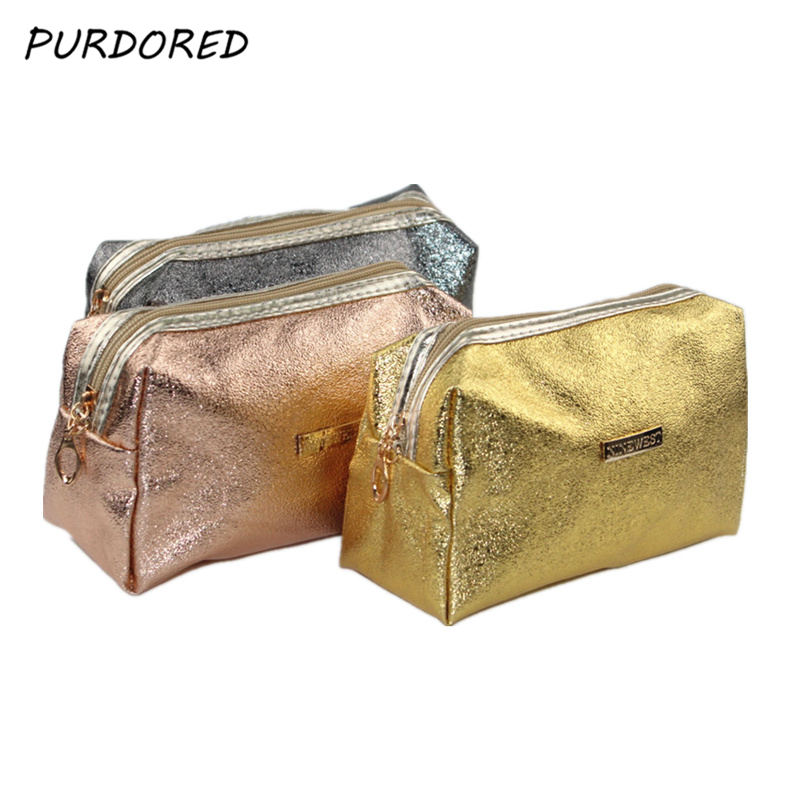PURDORED 1 pc Women Solid Cosmetic Bag Beauty Case Make Up Organizer Travel Bag Toiletry Wash Clutch necessarie Dropshipping