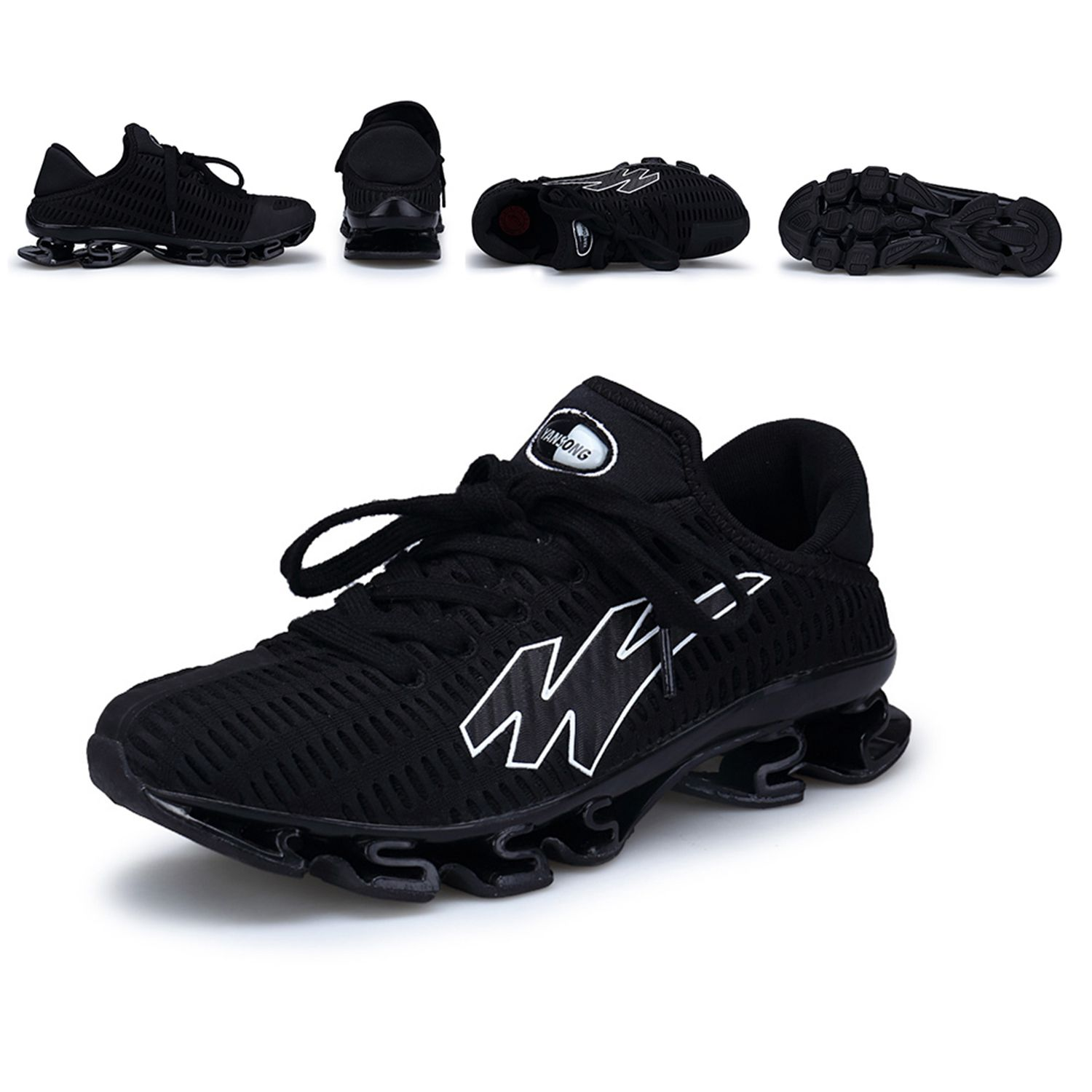 breathable Casual Shoes For Men Fashion bounce Male Shoes Comfortable And Soft Lace-up Lazy Men Shoes