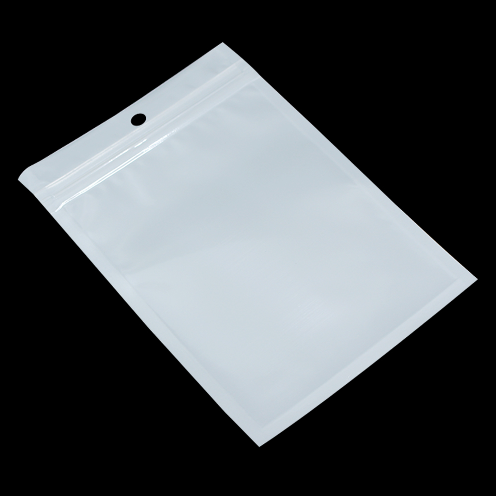 DHL 11*16cm White / Clear Resealable Valve Zipper Plastic Retail Packaging Bag, Ziplock Zip Lock Bag Retail Package W/ Hang Hole