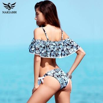 NAKIAEOI 2018 Sexy Bandeau Bikinis Women Swimsuit Push Up Swimwear Brazilian Bikini Set Beach Bathing Suit Swim Wear Biquini 4