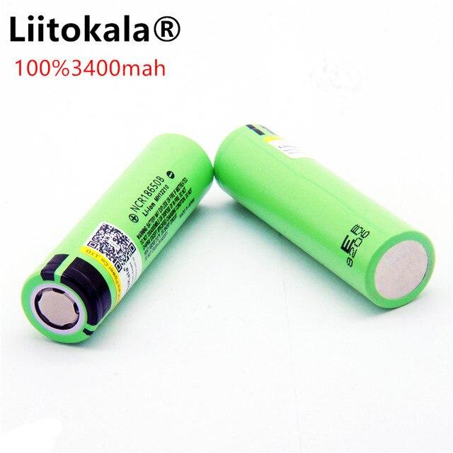 Liitokala 18650 3400新しいオリジナルNCR18650 3400充電式リチウムイオンバッテリー/パワーバンク/懐中電灯