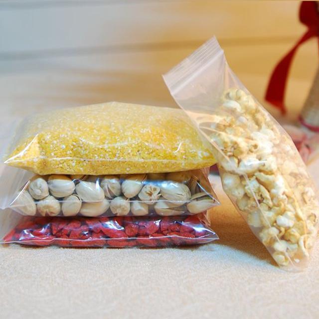 Sacs demballage en plastique PE Transparent   Épais 0.2mm, 13x19cm, sacs demballage en 100 pièces, sacs demballage en plastique personnalisés pour bijoux