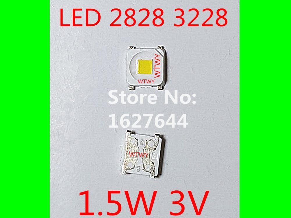 1000pcs LED 3228 2828 LED Backlight TV High Power 1 5W 3V LED Backlight Cool white