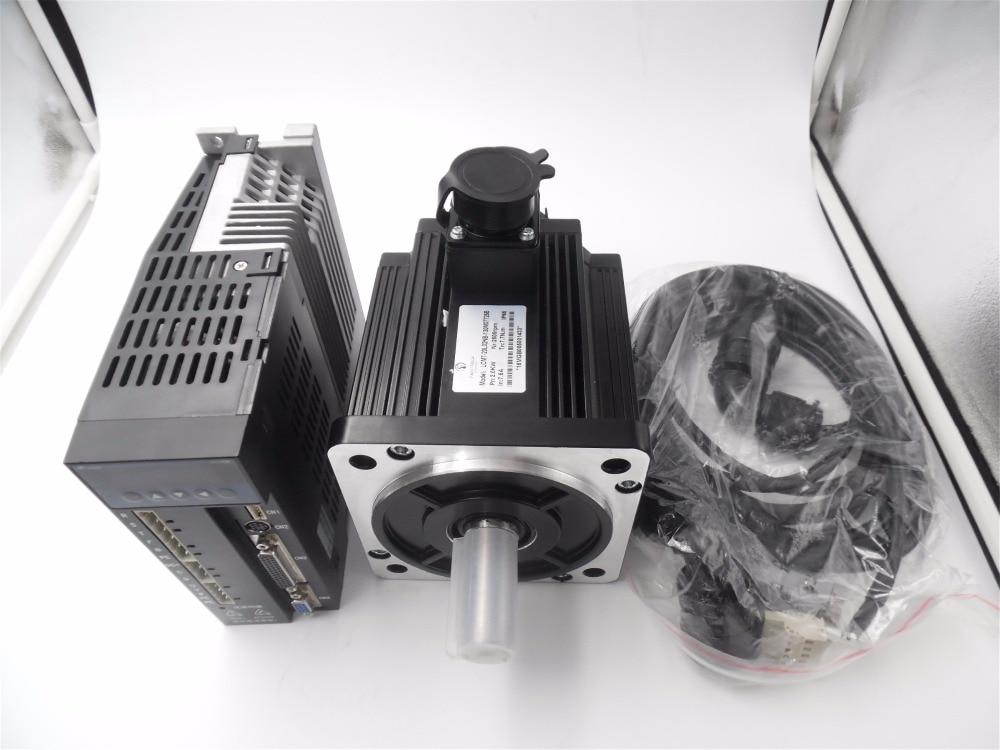 130mm 2KW 2500RPM AC servo motor Kit 3PH 220V 7.7NM modbus New 1 Year Warranty LCMT-20L02NB-130M07725B+LCDB2-203002-LB1332 labbra lb ph 99l