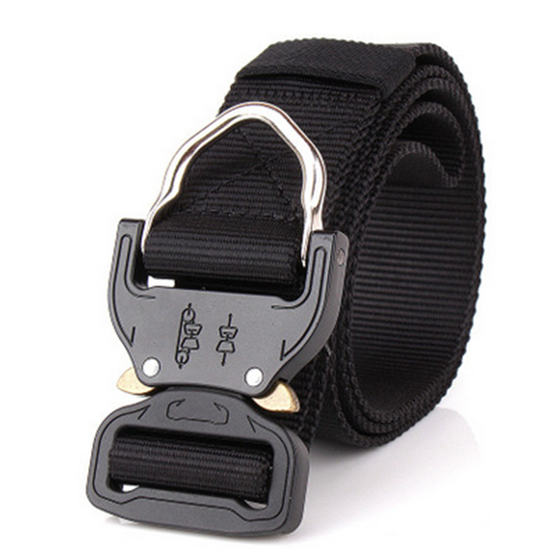 Military Equipment Tactical Belt Men Nylon Metal Insert Buckle Knock Off Belts Outdoor M ...