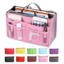 Купить с кэшбэком Women Makeup Bag Organizer Bags Double Zipper Storage Bag in Bags Cosmetic Lady Portable Casual Multifunctional Travel Handbag
