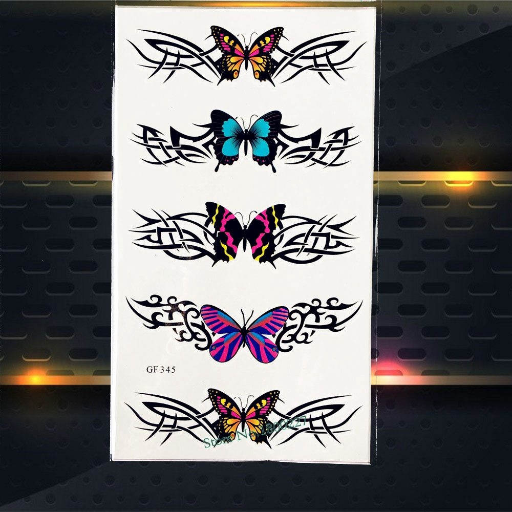 Hot Temporary Tattoo For Children Gifts Butterfly Waterproof Fake Flash Tattoo Choker Neck PGF345 Kids Body Arm Tattoo Stickers