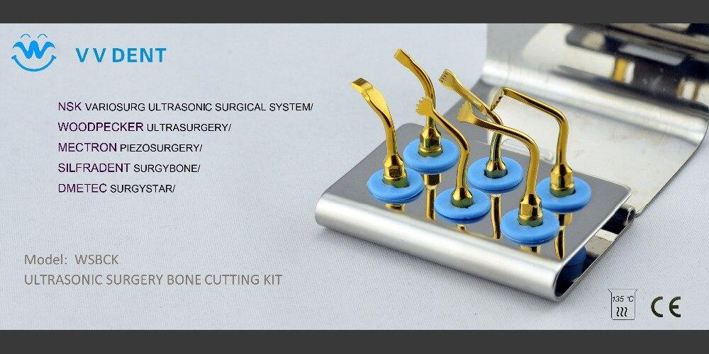 1SET WSBCK ULTRASONIC SURGERY BONE CUTTING KIT compatible with WOODPECKER ULTRASURGERY/ mectron PIEZOSURGERY/NSK dental equiment
