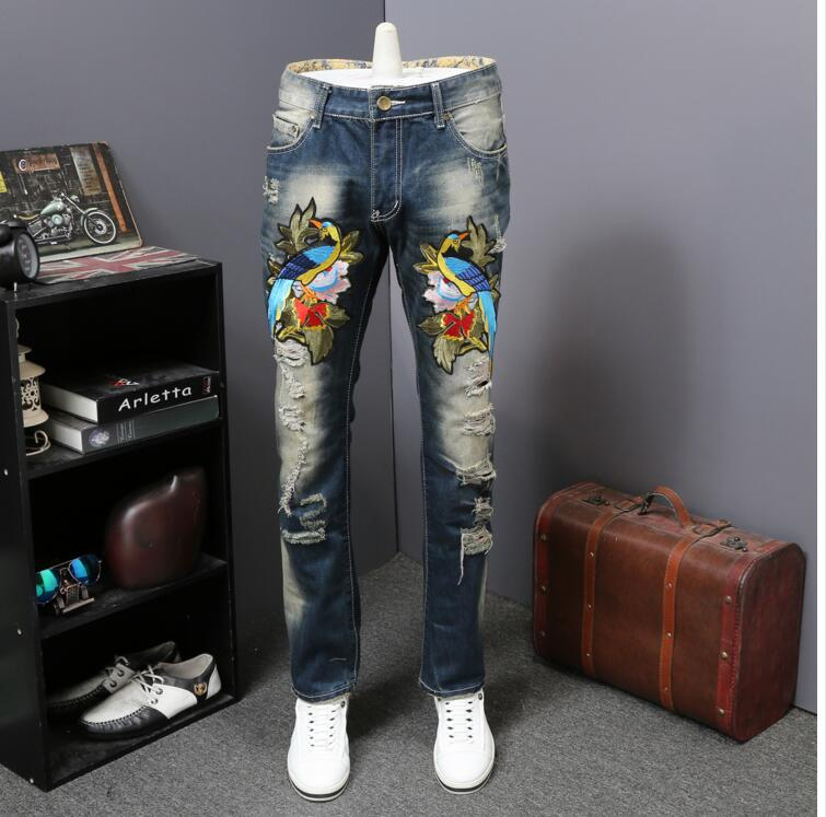 Europe style the new blue young men's jean hot sale trousers new design 2017 2017 new style europe