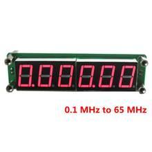 Красный светодиодный 6 цифр 0,1 МГц~ 65 МГц цифровой частотомер счетчик Тестер Частотомер